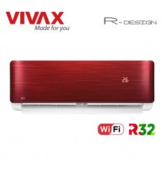 Aer Conditionat VIVAX R-Design ACP-12CH35AERI RED Wi-Fi R32 Inverter 12000 BTU/h