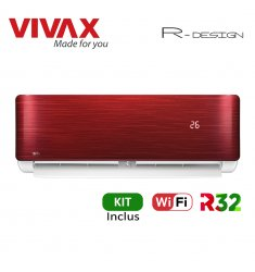 Aer Conditionat VIVAX R-Design ACP-12CH35AERI RED Wi-Fi Kit de instalare inclus R32 Inverter 12000 BTU/h