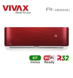 Aer Conditionat VIVAX R-Design ACP-09CH25AERI RED Wi-Fi Ready Kit de instalare inclus R32 Inverter 9000 BTU/h