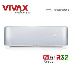 Aer Conditionat VIVAX R-Design ACP-12CH35AERI SILVER Wi-Fi Ready R32 Inverter 12000 BTU/h