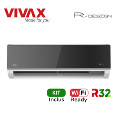 Aer Conditionat VIVAX R-Design ACP-09CH25AERI SILVER MIRROR Wi-Fi Ready Kit de instalare inclus R32 Inverter 9000 BTU/h