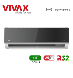 Aer Conditionat VIVAX R-Design ACP-09CH25AERI SILVER MIRROR Wi-Fi Kit de instalare inclus R32 Inverter 9000 BTU/h