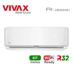 Aer Conditionat VIVAX R-Design ACP-09CH25AERI Wi-Fi Ready Kit de instalare inclus R32 Inverter 9000 BTU/h