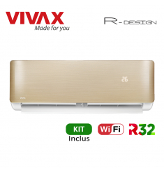 Aer Conditionat VIVAX R-Design ACP-12CH35AERI GOLD Wi-Fi Kit de instalare inclus R32 Inverter 12000 BTU/h